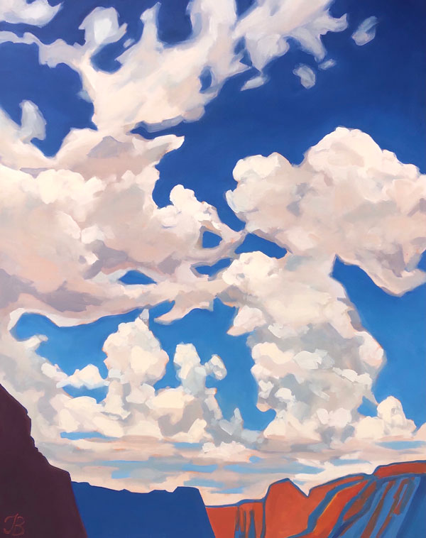 """Day With The Clouds"" Art Print by Julia Buckwalter"