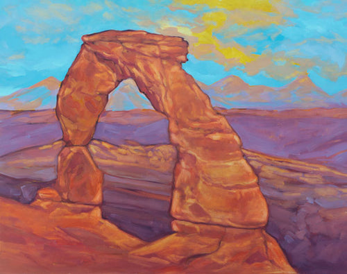 """Delicate Arch Sunset"" Art Print by Julia Buckwalter"