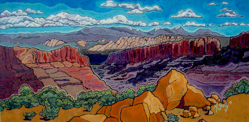 """Longs Canyon"" Art Print by Adeline Guay"
