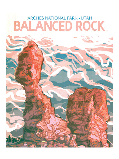 "MIK_Print ""Balanced Rock"" National Parks By Mik Allister"