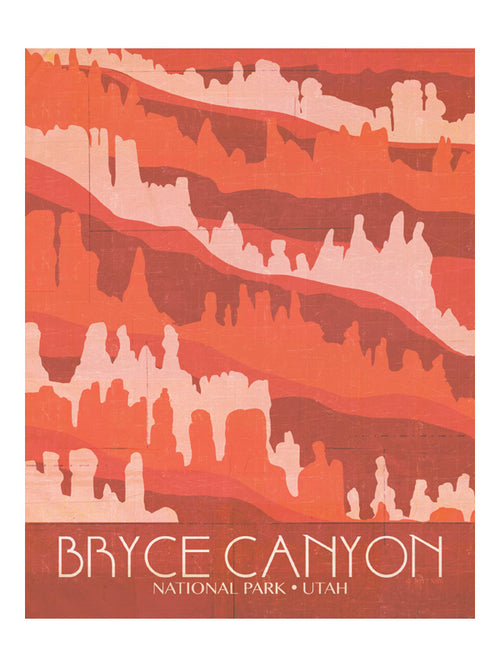 "MIK_Print ""Bryce"" National Parks By Mik Allister"