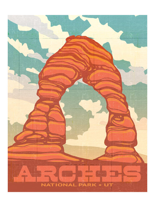 "MIK_Print ""Delicate Arch"" National Parks By Mik Allister"
