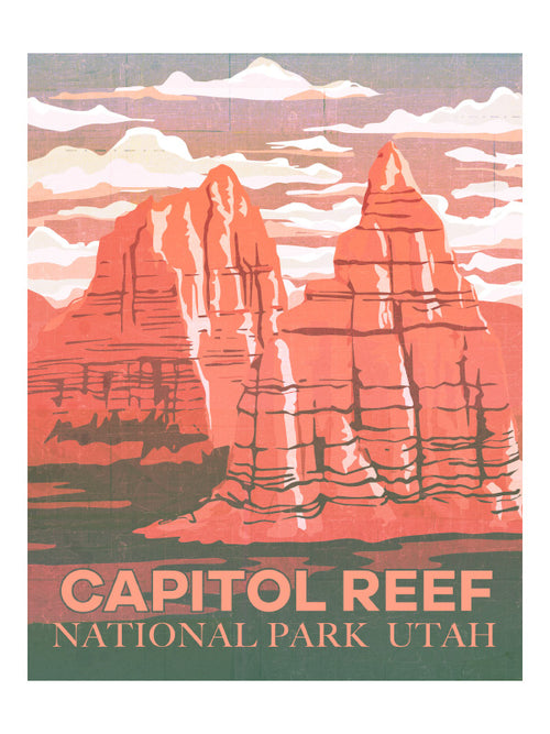 """Capitol Reef"" National Parks Art Print by MIK"