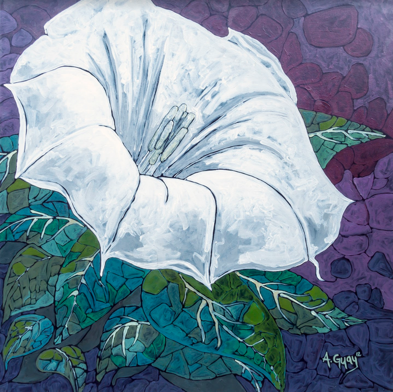 """Moonflower"" Art Print by Adeline Guay 8""x8"""