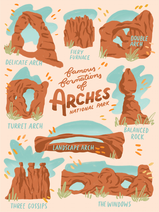 "AL_Print ""Formations of Arches"" by Abby Leighton"