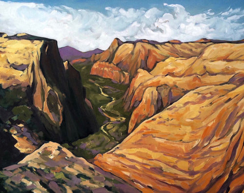 """Zion Overlook"" Art Print by Julia Buckwalter"