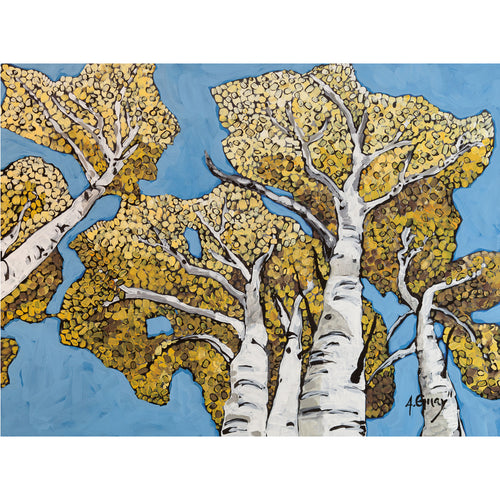 """Upper Mill Creek Aspens"" Art Print by Adeline Guay"