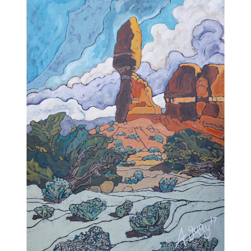 """Balanced Rock"" Art Print by Adeline Guay"