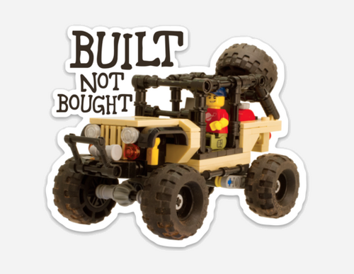 Built Not Bought Clankwerks Sticker