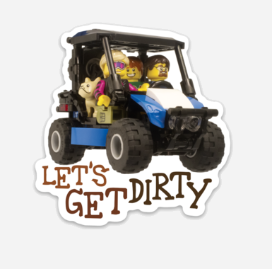 Let's Get Dirty Clankwerks Sticker