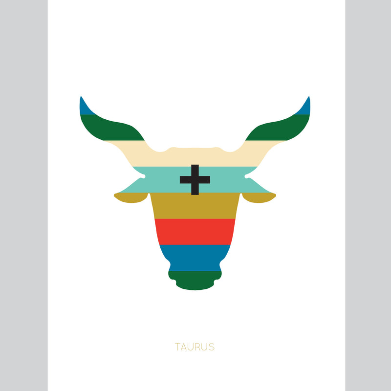 Taurus Zodiac Card by Holli Zollinger