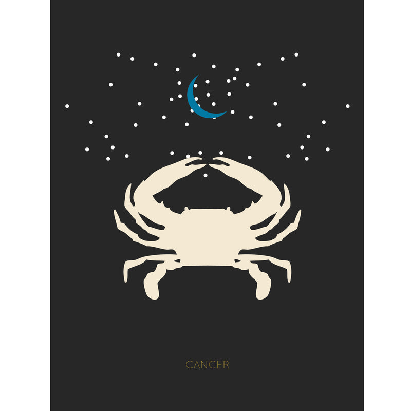 Cancer Zodiac Card by Holli Zollinger