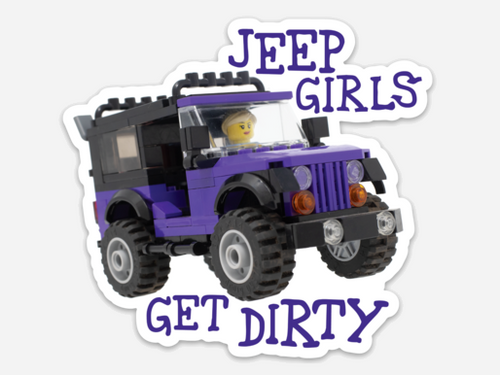 Jeep Girls Get Dirty Clankwerks Sticker