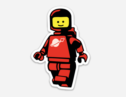 Red Spaceman Clankwerks Sticker