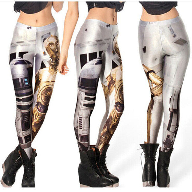 Leggings: Star Wars stemz with R2-D2 & C-3PO. #leggingsarepants #maythe4thbewithyou #nicestemz #starwarsfan #starwarsgirl