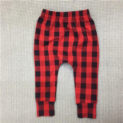 Plaid Harem Pants
