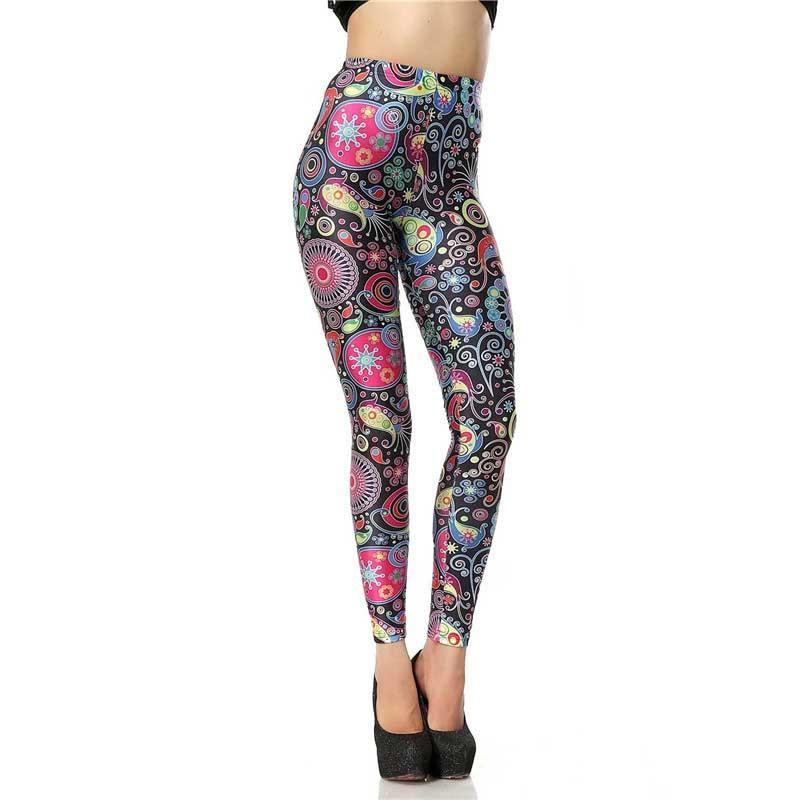 Leggings: black stemz covered colourful paisley! #nicestemz #leggingsarepants