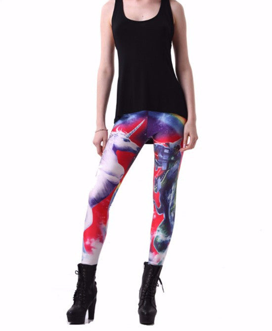 Unicorn and T-Rex leggings