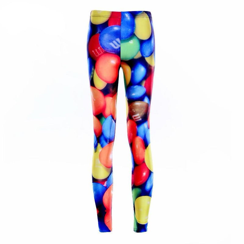 Leggings: stemz covered in the colourful candy M&Ms #nicestemz #leggingsarepants