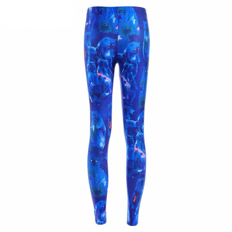 Leggings: blue galaxy stemz covered in a cute kitty discovering the cosmos. #nicestemz #leggingsarepants
