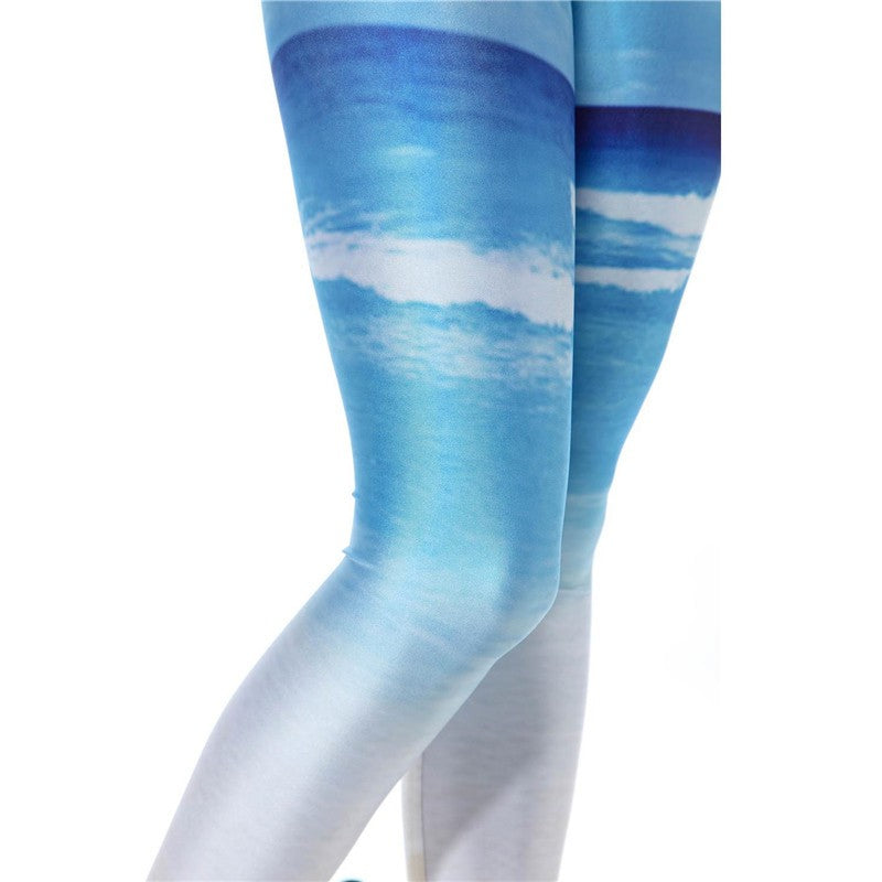 Leggings: these stemz are like a mini vacation with a beautiful beach and clear blue skies  #nicestemz #leggingsarepants