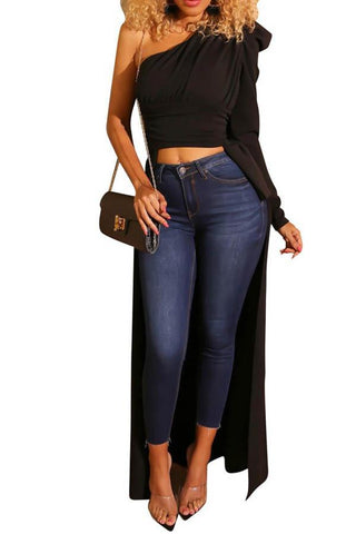 Cold Shoulder black