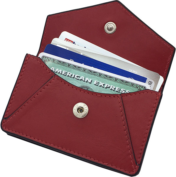 Genuine Leather Personalized RFID Card Holder - A&A Creative Designs