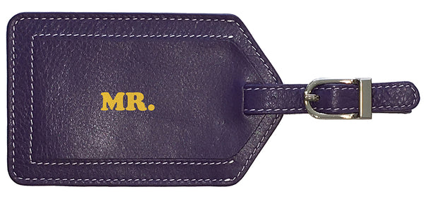"""MR."" Luggage Tag - A&A Creative Designs"