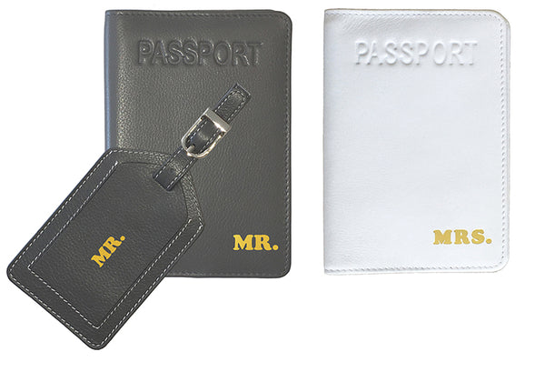 """MR."" Luggage Tag + ""MR."" & ""MRS."" Passport Covers - A&A Creative Designs"
