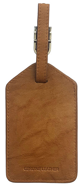 Personalized Monogrammed Leather Luggage Tag - A&A Creative Designs