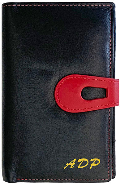 Personalized Genuine Leather Womens Medium Wallet