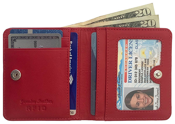 Personalized Genuine Leather Womens Mini Wallet