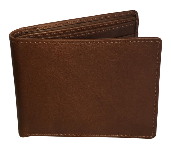 Monogrammed Personalized Leather RFID Blocking Bifold Slim Men's Wallet - A&A Creative Designs