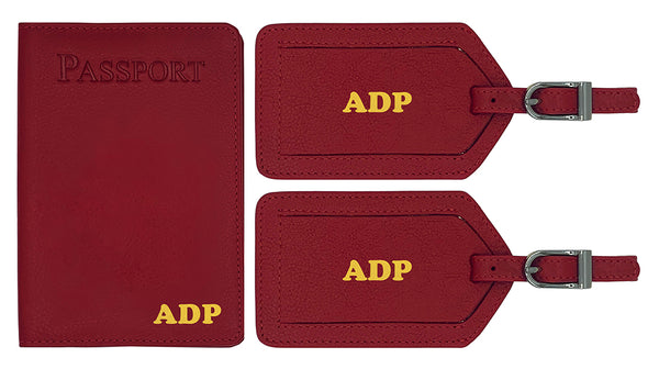 Personalized Passport Cover Holder and 2 Luggage Tags - A&A Creative Designs