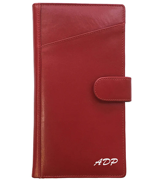 Personalized Monogrammed Leather RFID Travel Wallet - A&A Creative Designs