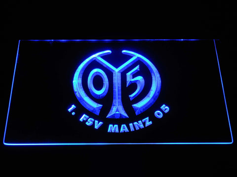 Image of 1. FSV Mainz 05 LED Neon Sign - Blue - SafeSpecial