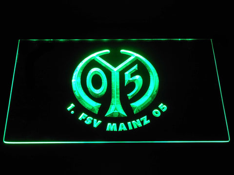 Image of 1. FSV Mainz 05 LED Neon Sign - Green - SafeSpecial