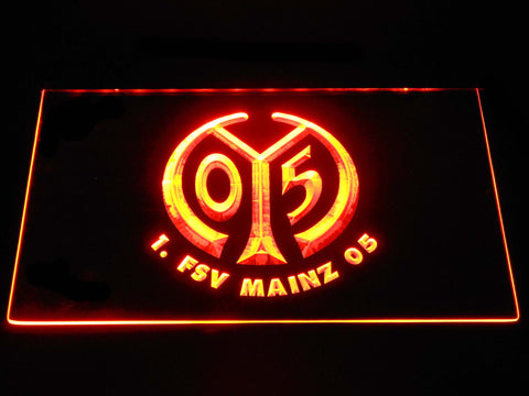 Image of 1. FSV Mainz 05 LED Neon Sign - Orange - SafeSpecial