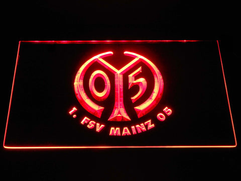 Image of 1. FSV Mainz 05 LED Neon Sign - Red - SafeSpecial