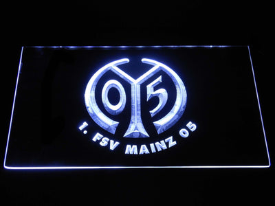 1. FSV Mainz 05 LED Neon Sign - White - SafeSpecial