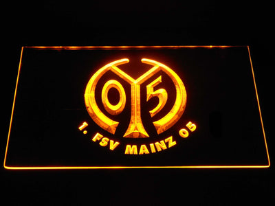 1. FSV Mainz 05 LED Neon Sign - Yellow - SafeSpecial