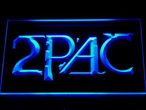 2Pac LED Neon Sign - Blue - SafeSpecial
