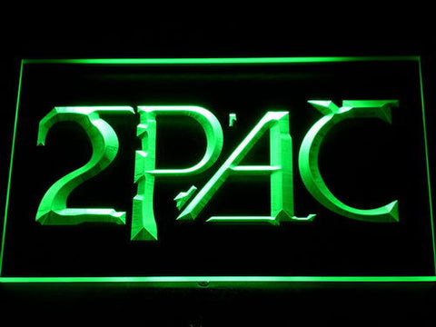 2Pac LED Neon Sign - Green - SafeSpecial
