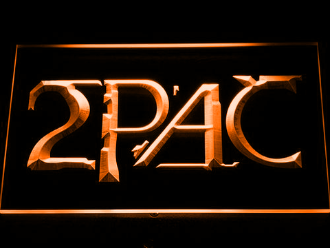 Image of 2Pac LED Neon Sign - Orange - SafeSpecial