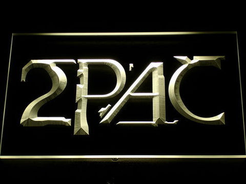 2Pac LED Neon Sign - Yellow - SafeSpecial