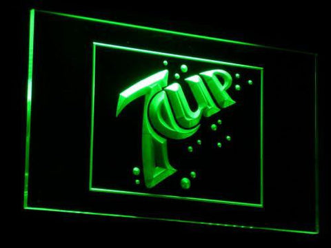 Image of 7Up LED Neon Sign - Green - SafeSpecial