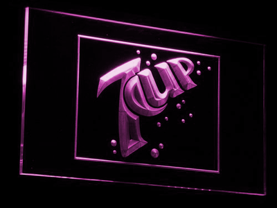 7Up LED Neon Sign - Purple - SafeSpecial