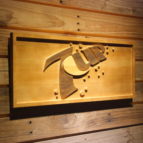 7Up Wooden Sign - - SafeSpecial