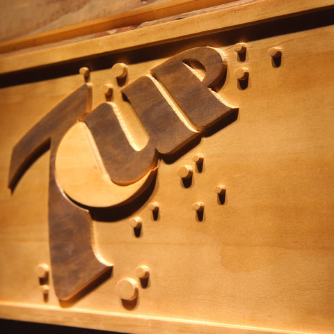 Image of 7Up Wooden Sign - - SafeSpecial