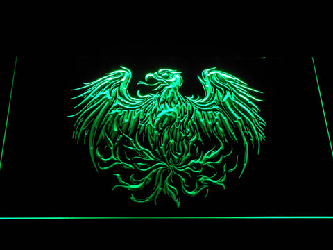Image of A Day to Remember Eagle LED Neon Sign - Green - SafeSpecial